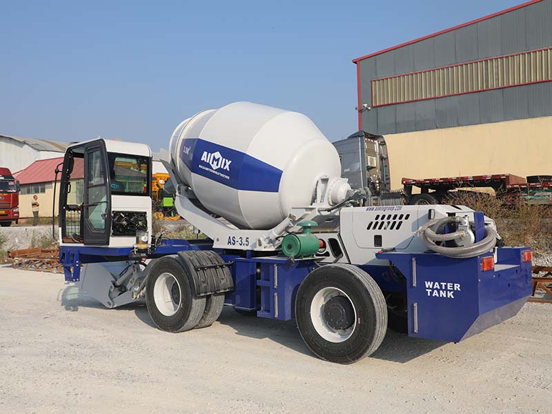 3.5 cub self loading mobile concrete mixer