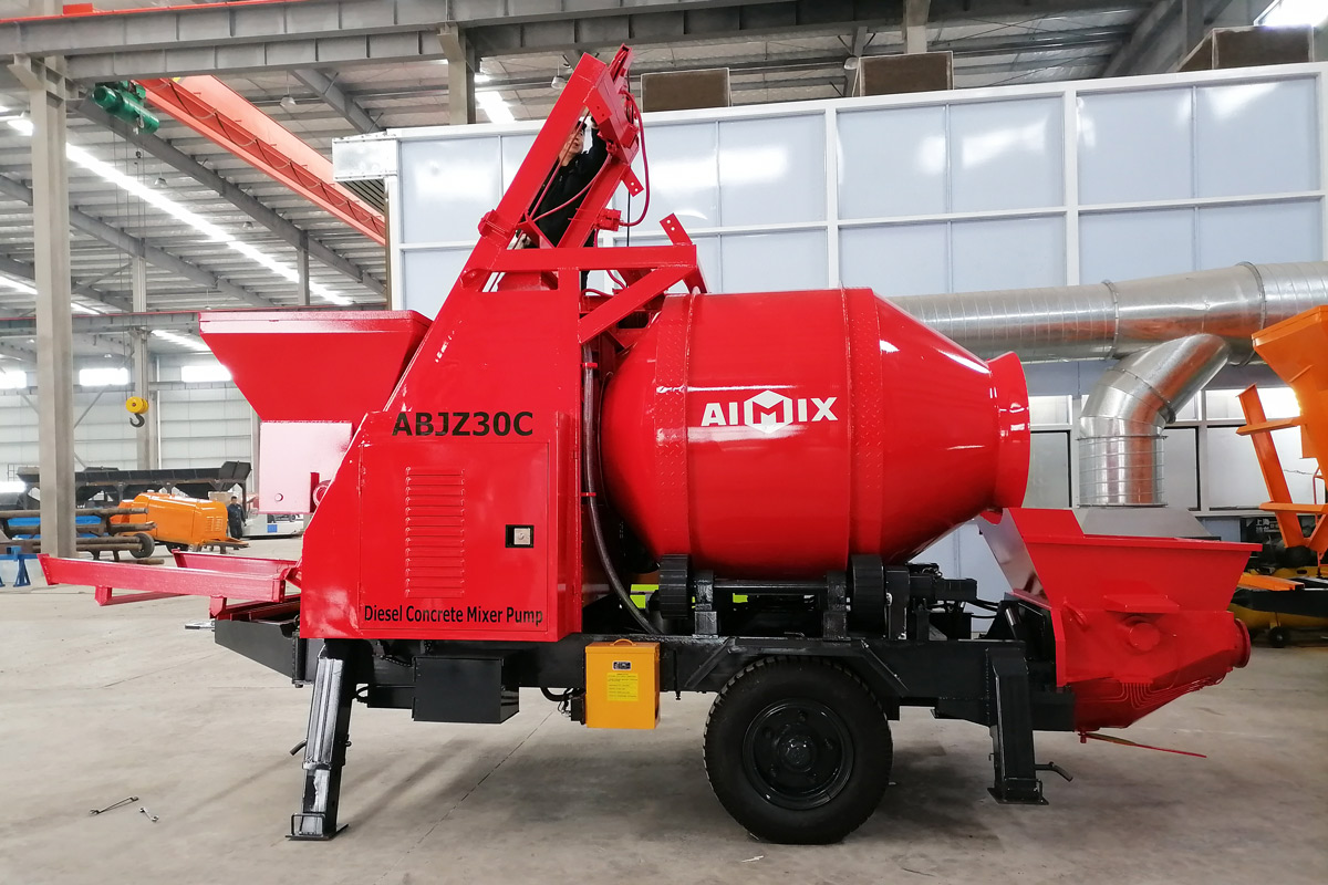 ABJZ30C small concrete mixer and pump