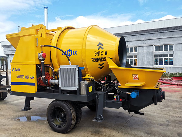 ABJZ40D electric small concrete pump mixer AIMIX