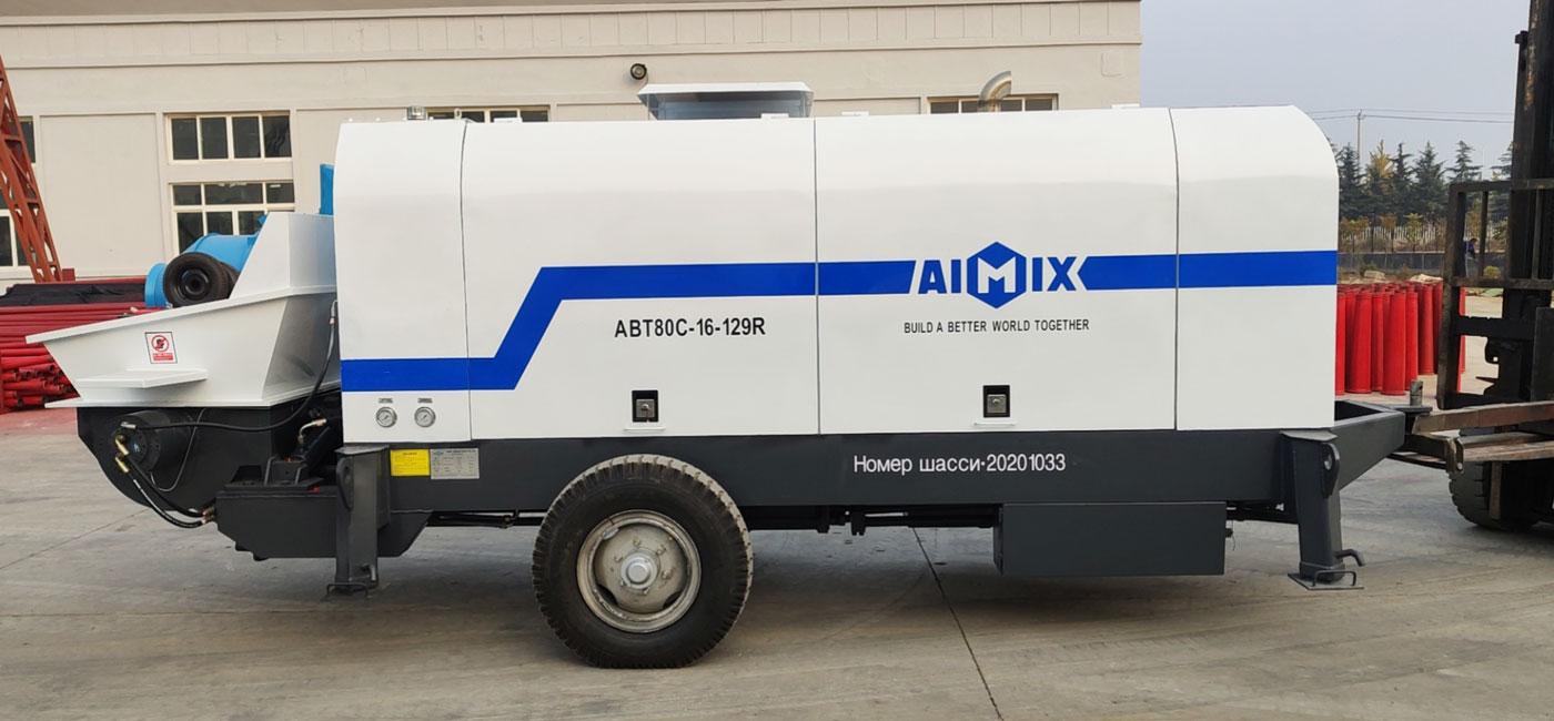 Bomba de concreto a diesel ABT80C para a Rússia