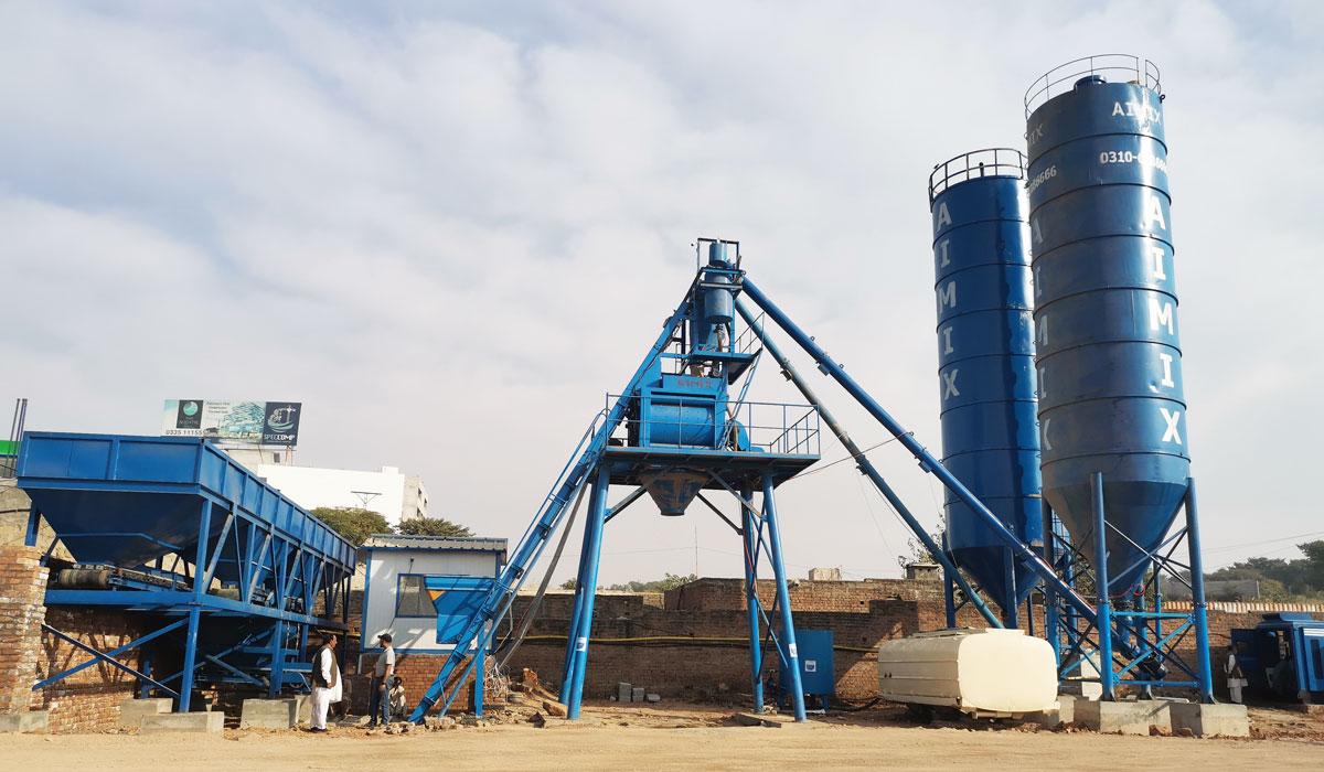 AJ-50 concrete batch plant Pakistan