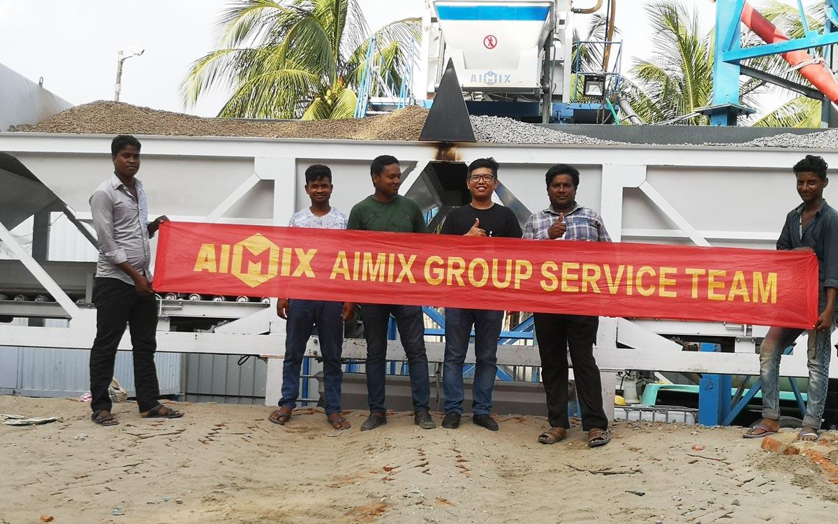 Fábrica de concreto AJ-50 Bangladesh