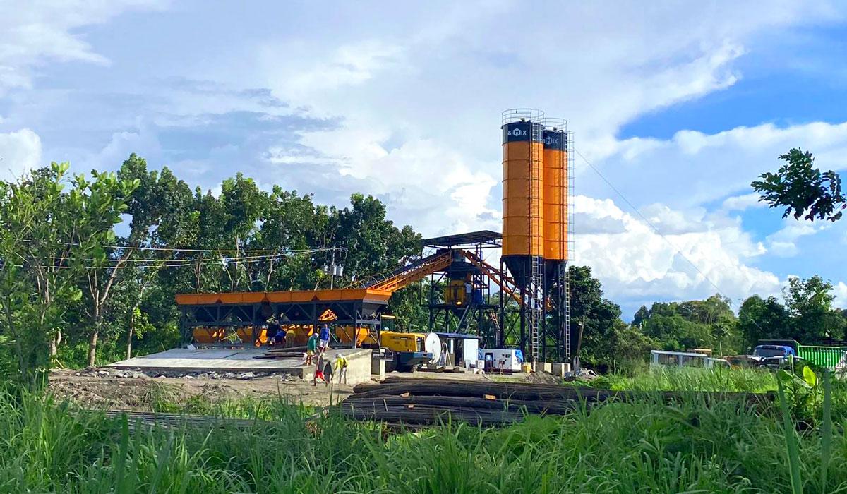 AJ-60 concrete batch plant in the Philippines