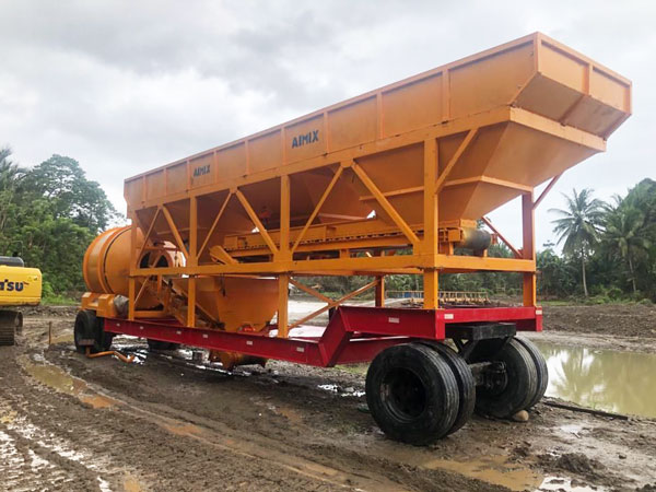 AJT-35 portable concrete mixer plant Indonesia