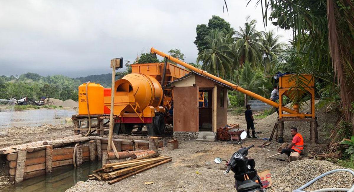 AJT35 portable concrete mixer plant Indonesia