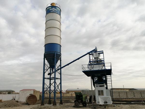 AJY-35 mobile concrete batching plant-UZ