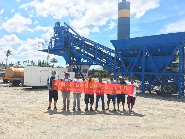 AJY-35 mobile concrete plant Philippines