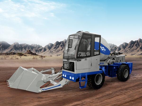 AS-2.6 self loading mobile concrete mixer