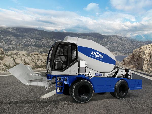 AS-6.5 self loading mobile concrete mixer