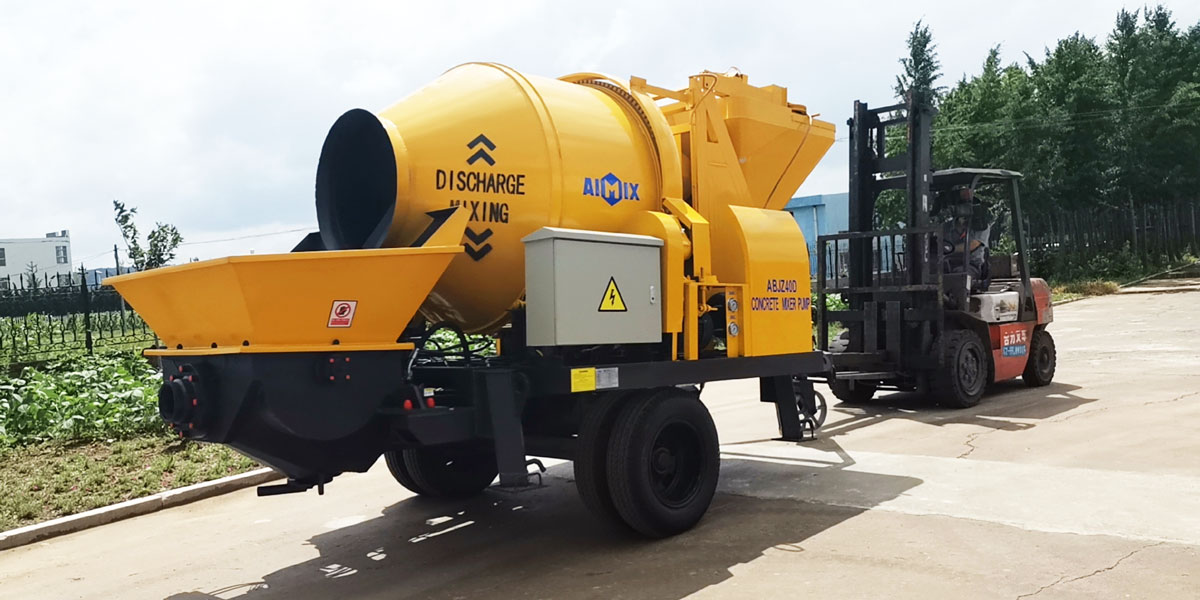 electric type mobile concrete mixer pump to Indonesia