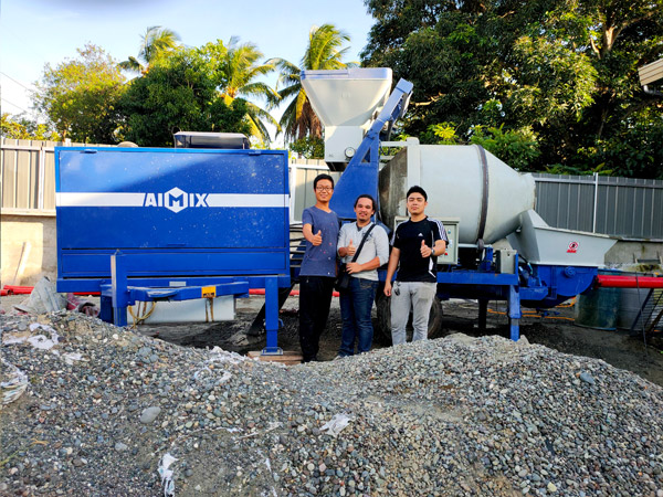 mobile concrete mixer pump with diesel engine