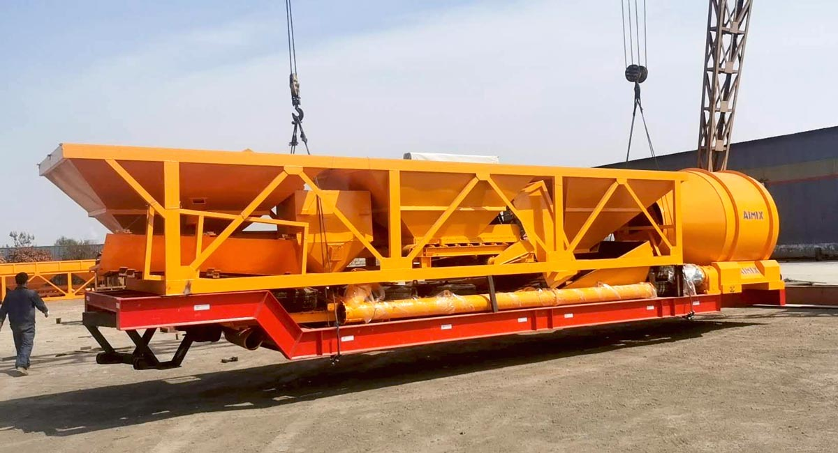 portable concrete mixer plant Indonesia