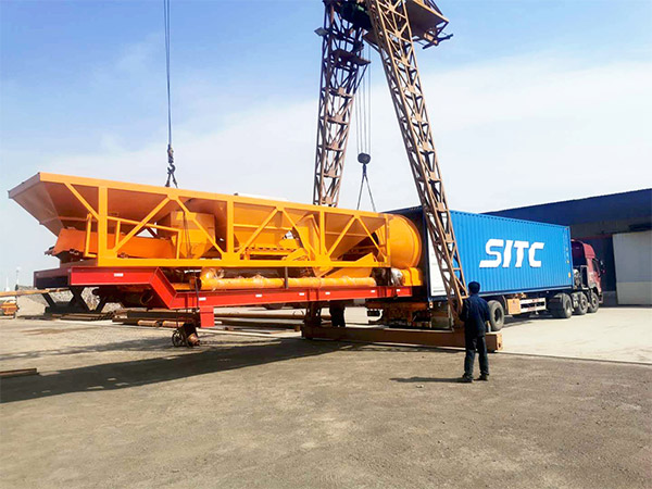 portable concrete mixer plant to Indonesia