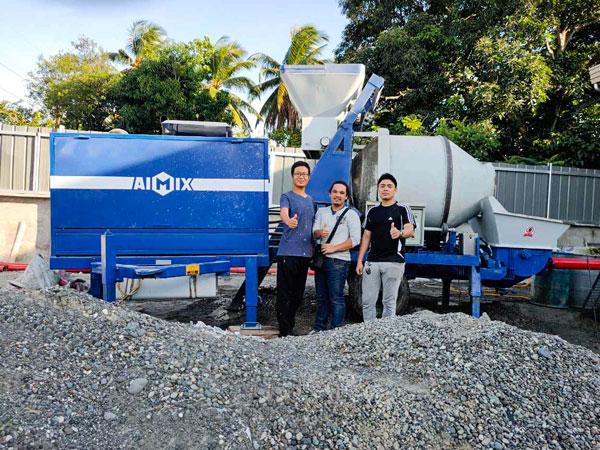 test run of mixer line pump