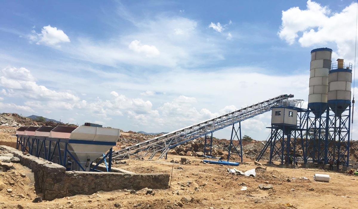 AJ-60 concrete plant in Sri Lanka