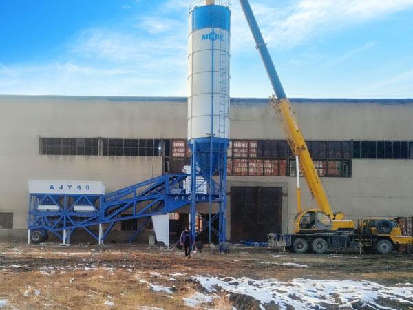 Planta de concreto móvel AJY60 Uzbequistão