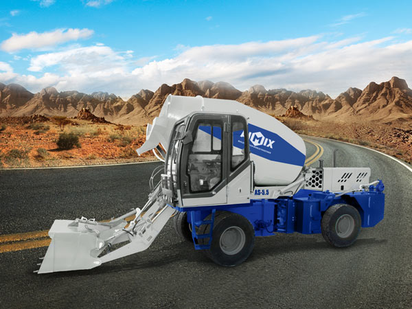 AS-5.5 self-loading concrete mixer with pump