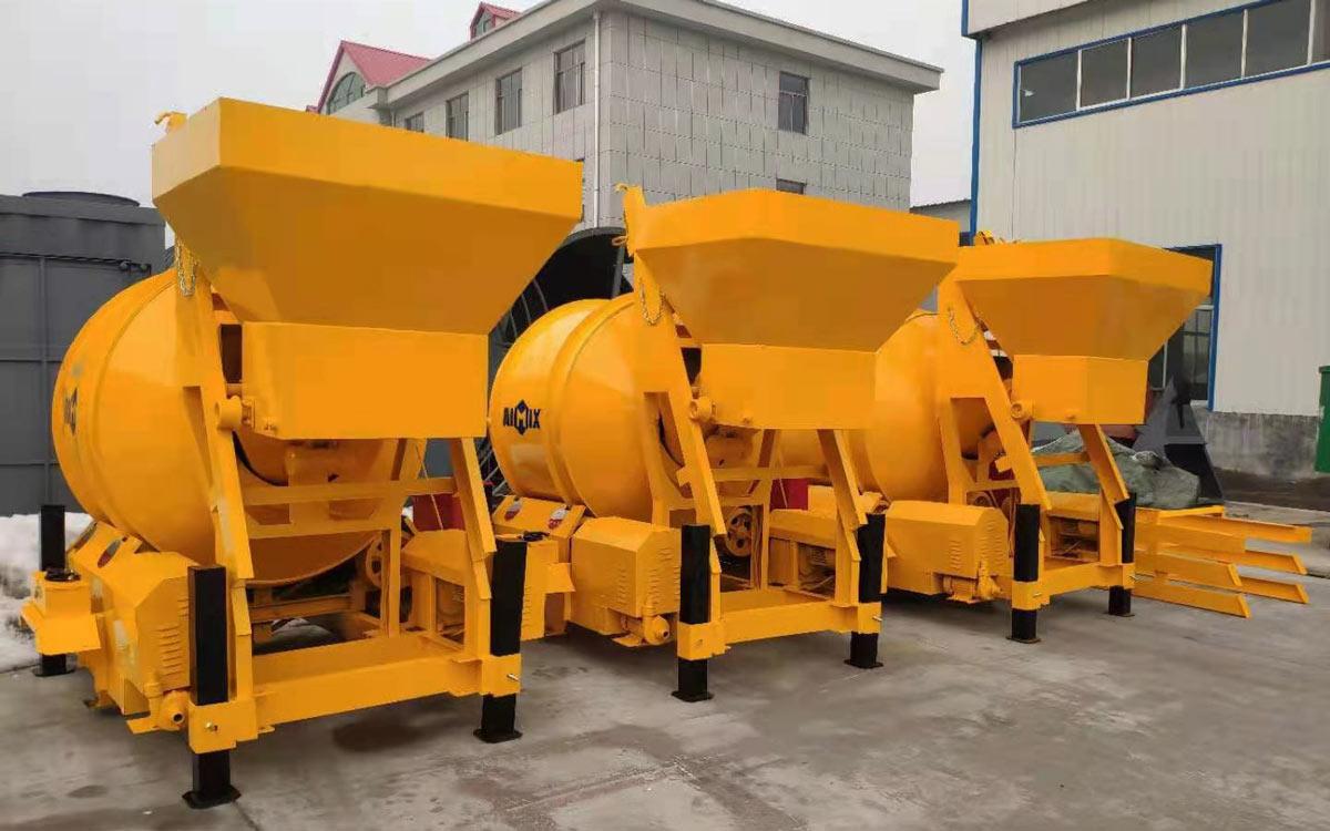 mini concrete mixer machine to Indonesia