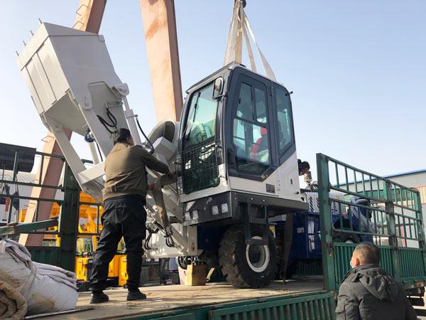 Máquina misturadora de concreto com carregamento automático AS-1.2