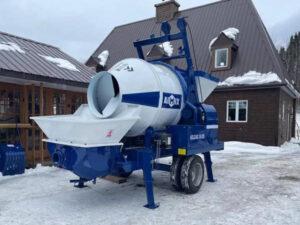 concrete mixer pump arrived at Canada