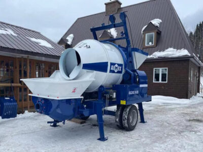 concrete mixer pump arrived at Canada