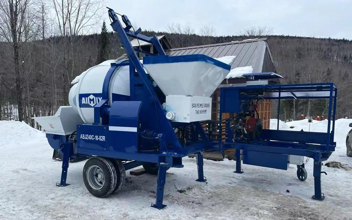 concrete mixer pump to Canada