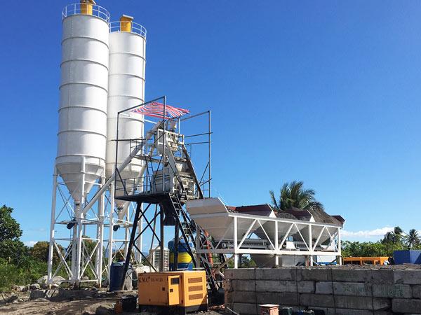 Fábrica de concreto AJ-50 nas Filipinas