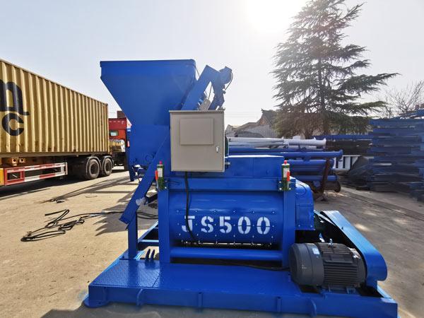 JS500 twin shaft concrete mixer machine