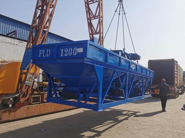 Máquina dosadora de concreto PLD1200