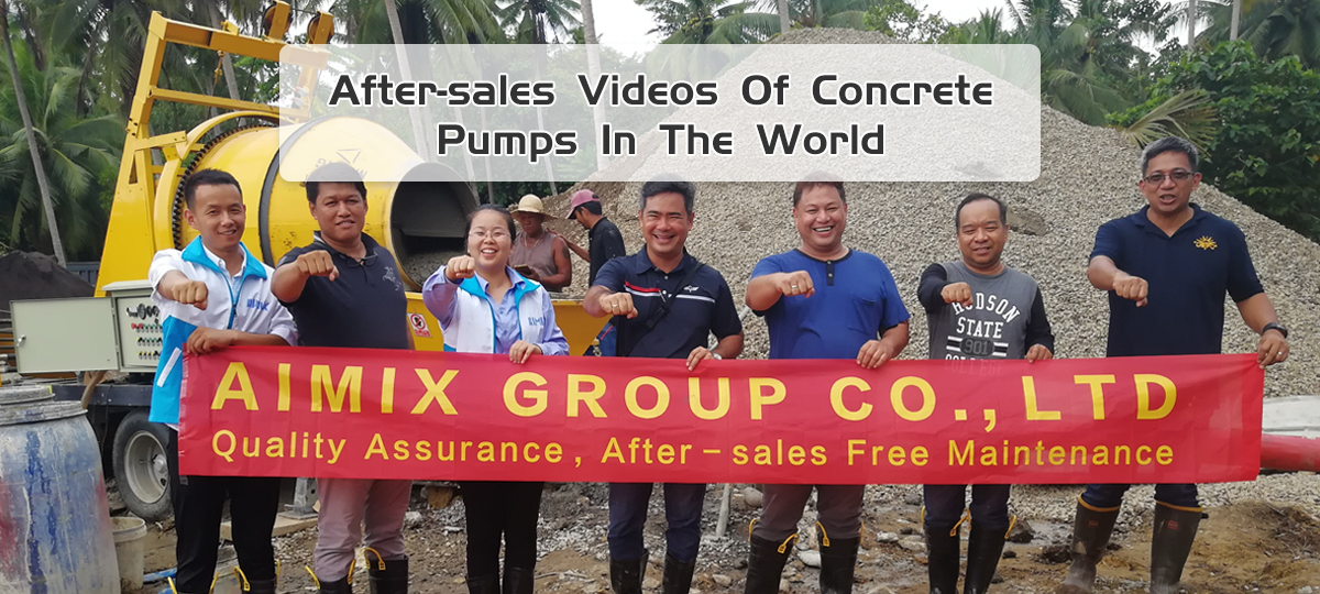 concrete pump video