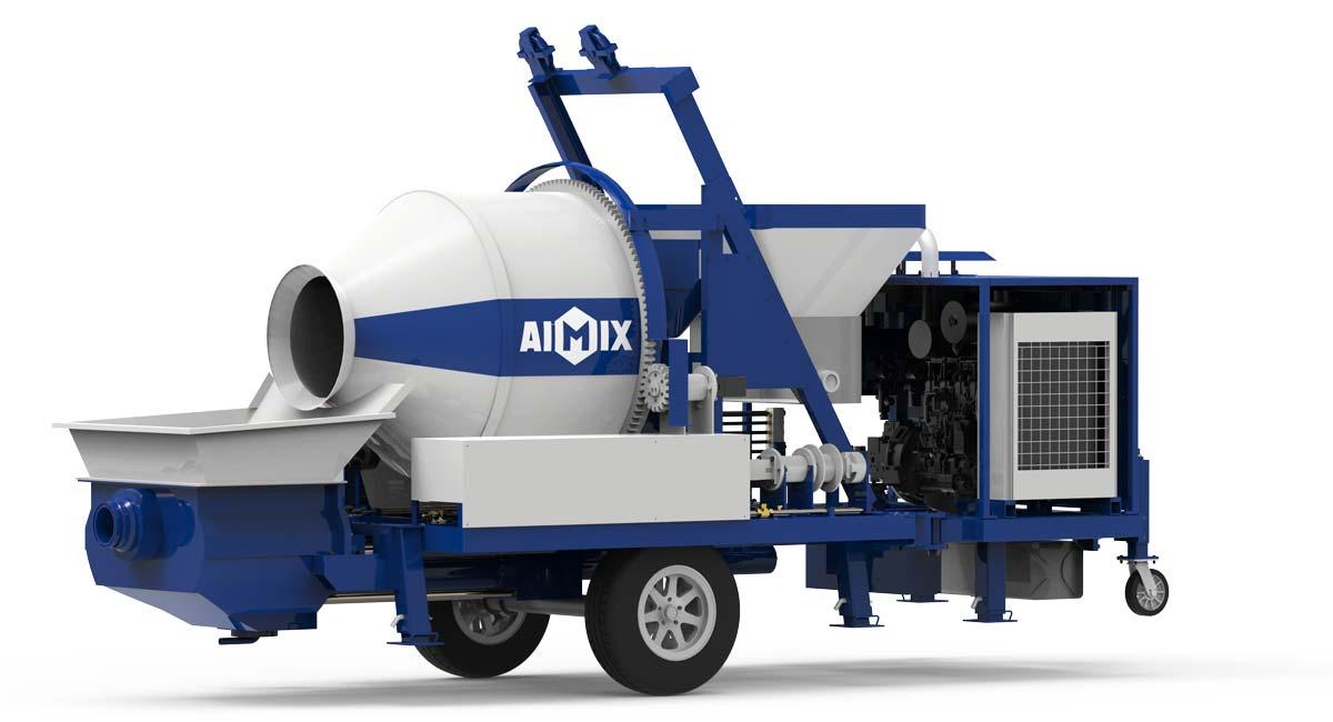 diesel mini concrete mixer pump-AIMIX
