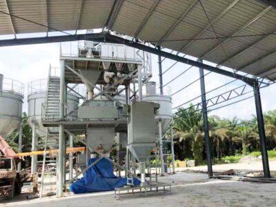 fábrica de argamassa seca na Malásia
