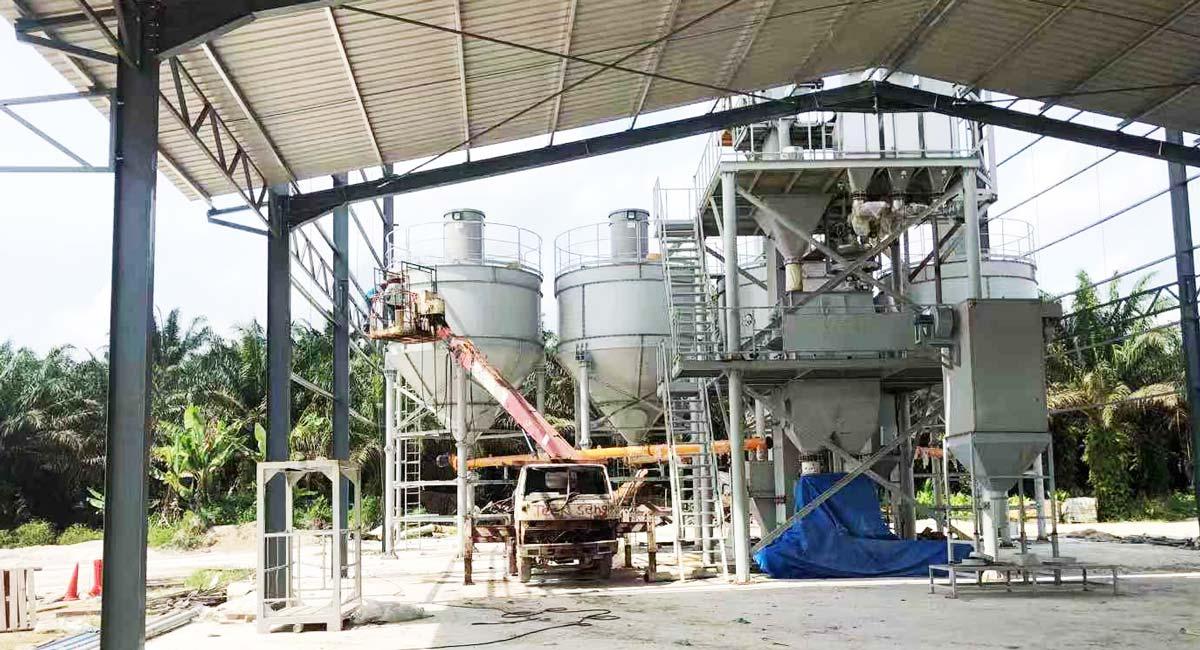 linha de produção de argamassa seca Malásia