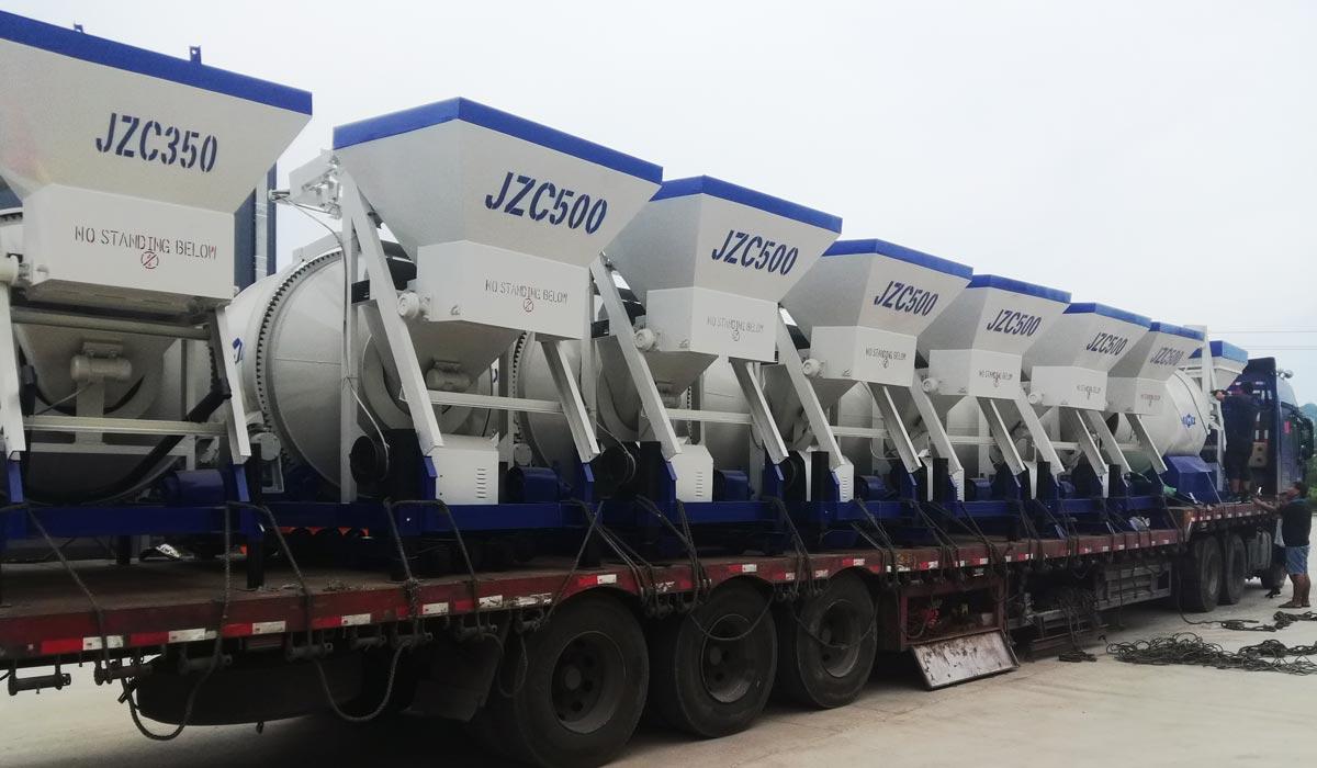 17 sets of mobile concrete mixers to Uzbekistan