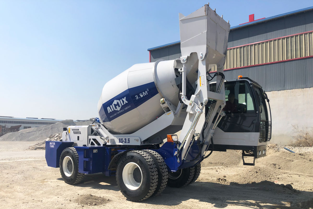 3.5m3 self-loading concrete mixer to Kazakhstan