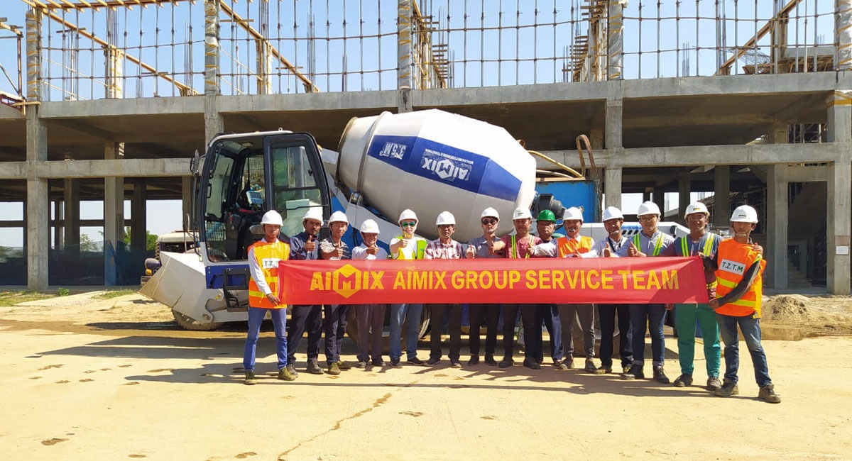 AS-3.5 self loading concrete mixer in Myanmar for building construction
