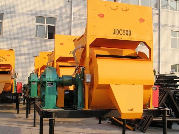 JDC500 single shaft concrete mixer