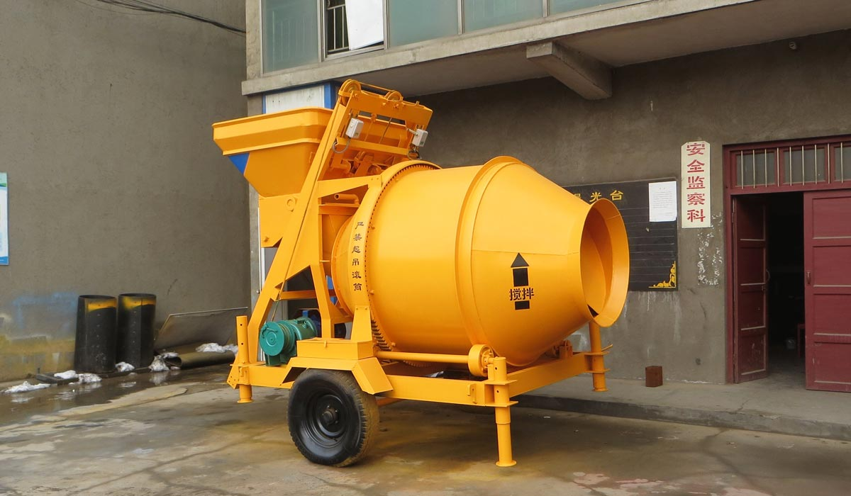 JZC350 mobile concrete mixer