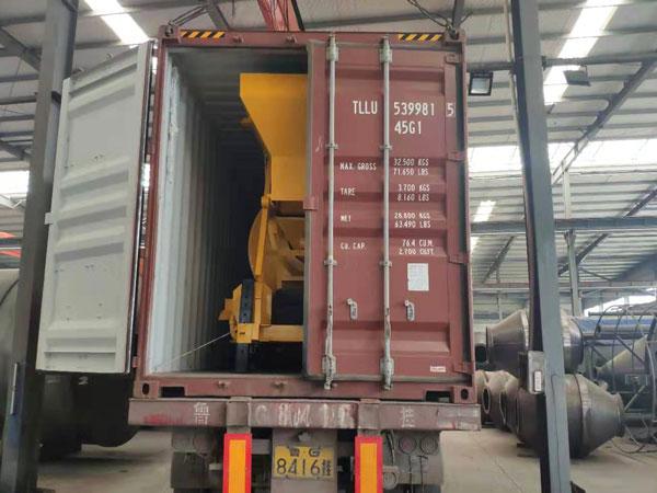 misturador de concreto exportado para a Indonésia