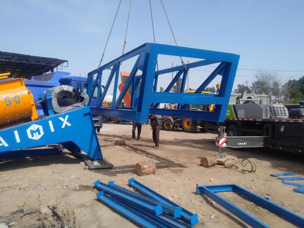mobile concrete plant in Uzbekistan