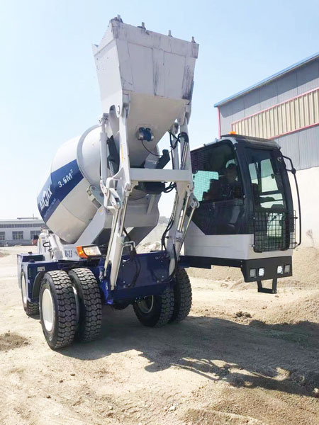 self-loading concrete mixer was ready to Kazakhstan