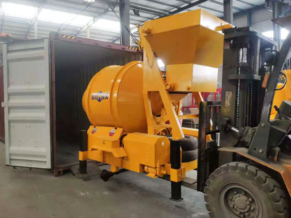 small concrete mixer arrived at Indonesia
