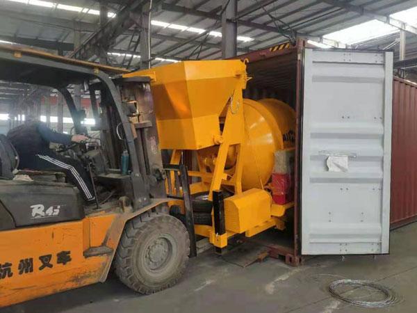 pequeno misturador de concreto exportado para a Indonésia