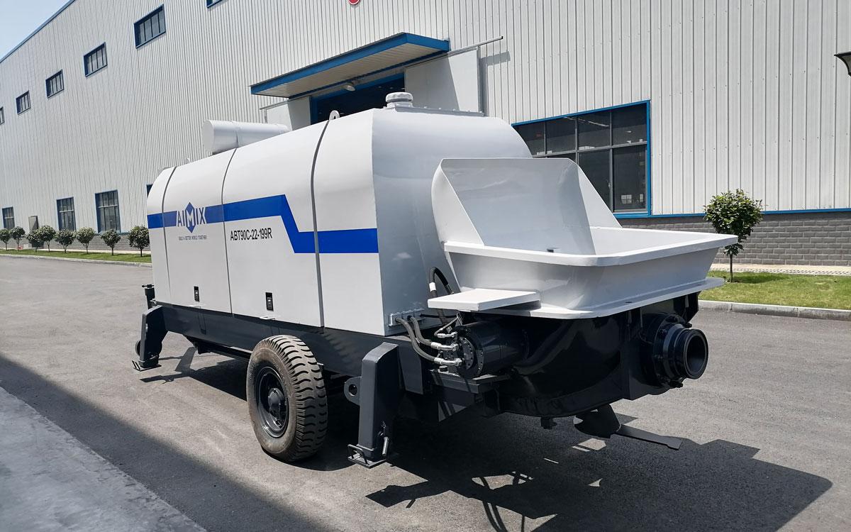ABT90C concrete pump with diesel engine