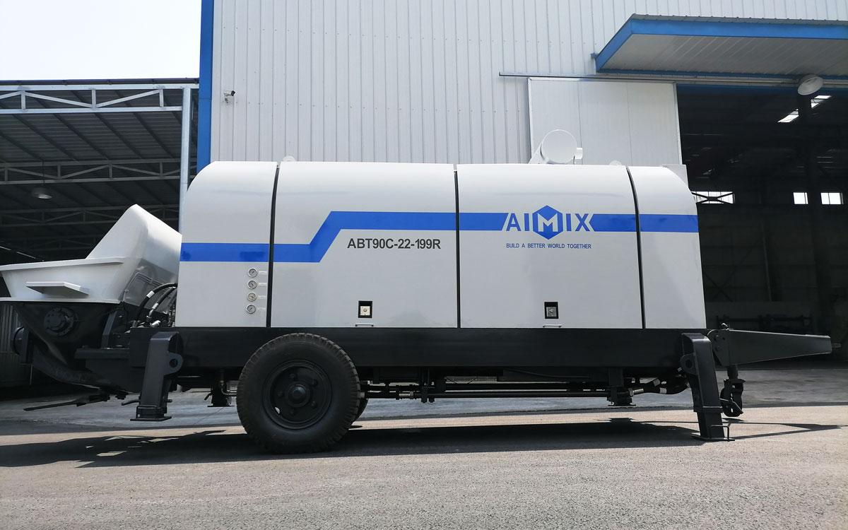 ABT90C diesel concrete pump Uzbekistan