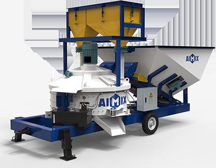 AJW-1000 Мобильный бетонный завод