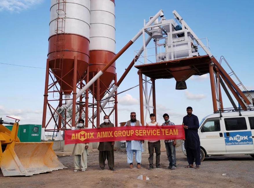 Бетонный завод AJ-50 в Пакистане