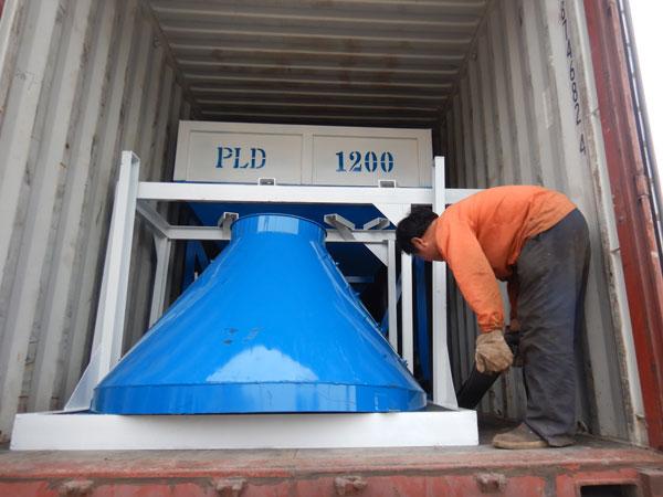 entrega máquina de concreto para o Uzbequistão