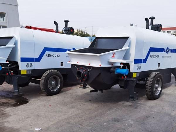 diesel engine concrete pump machine to Uzbekistan