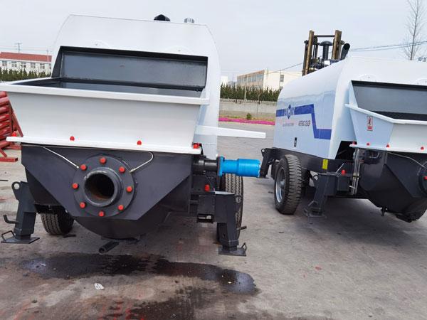 diesel powered concrete pump machine